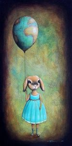It s a big world up there Limited Edition print