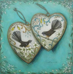 two hearts fantails