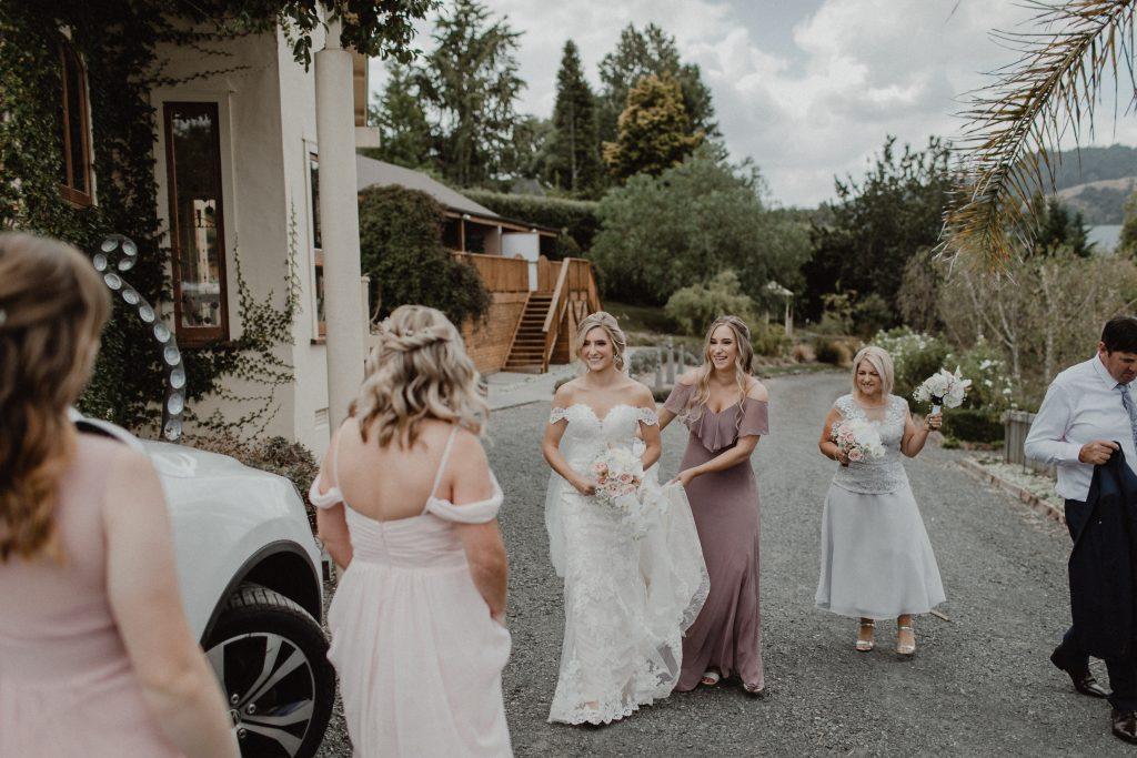 Bridal Party at Huntington Stables Retreat