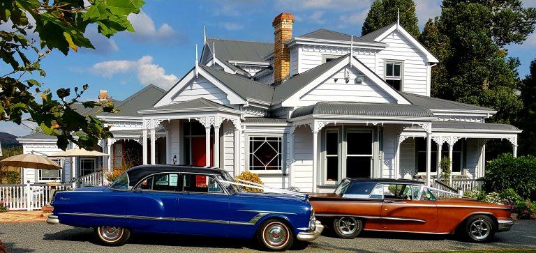 Maungakawa Villa Wedding Ceremony and Photos Venue Cars by Retro Rides Hamilton