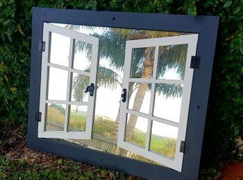 DOUBLE SHUTTER, MIRROR WINDOW, BLACK & WHITE