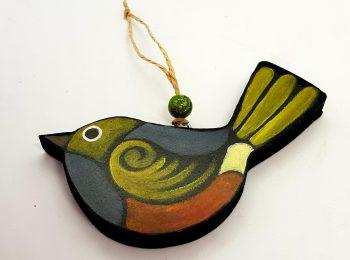 Hanging Birdie, Waxeye on wood