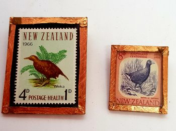 NZ Stamp Brooches