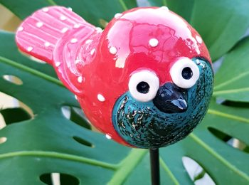POTTERY BIRDIE RED