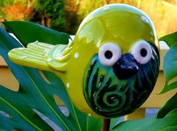 Pottery Birdie green