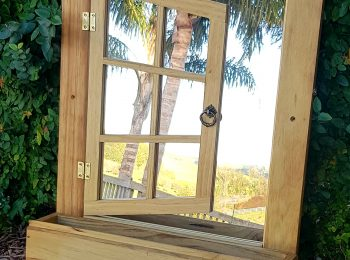 Rustic Mirror Planter Box