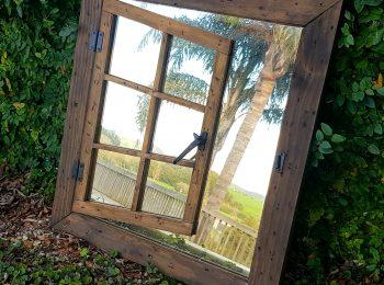 Singleshutter Mirror Window Dark Brown