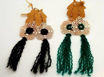 crocheted earrings dangly (2)