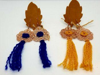 crocheted earrings dangly