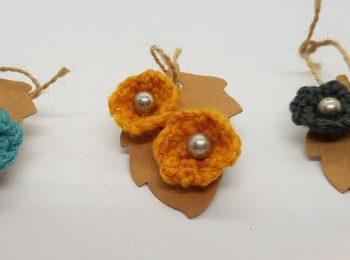 crocheted stud earrings